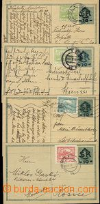 56438 - 1919-20 CDV1, comp. 4 pcs of from II. and postal rate III, a