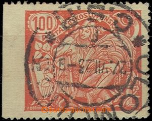 56508 - 1923 Pof.173 type II., omitted perforation on/for L side, go