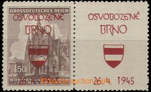 56524 - 1945 Brno, Staňkův overprint in red color (Geo.P20), stmp St