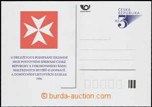 56534 - 1996 Řád maltézských rytířů, přítisk B54 na dopisni
