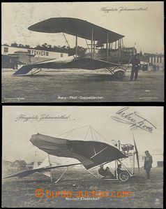 56540 - 1913 Aircrafts - 2x  B/W real photo picture postcard from ai