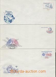 56557 - 1982-87 CSO1, 4, 5 , služební obálky 3ks, nepoužité, p�