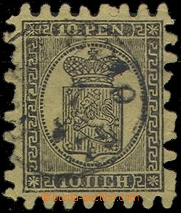 56585 - 1866 Mi.7B Coat of Arms, 2x shorter tooth, 3x not holed, cle