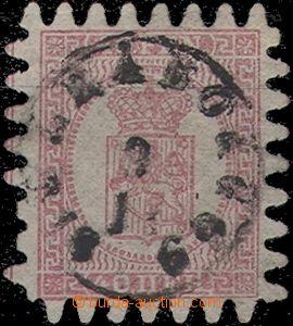 56586 - 1866 Mi.9C  Znak, 2x mírně kratší zoubek, slušné razítko, do