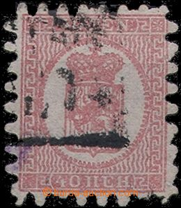 56645 - 1866 Mi.9By Coat of Arms, 2x shorter tooth, otherwise well p