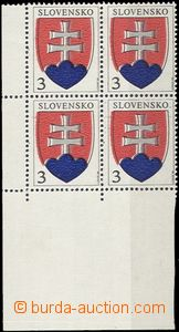 56647 - 1993 Zsf.2  State Coat of Arms  , LL corner blk-of-4, shifte