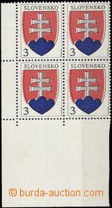 56647 - 1993 Zsf.2  Státní znak, levý dolní rohový 4-blok, posu