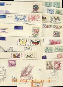 56655 - 1954-71 sestava 15ks různých FDC, všechny poštovně prošlé do
