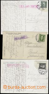 56657 - 1926-37 comp. 3 pcs of Ppc with various postal agency pmk PU