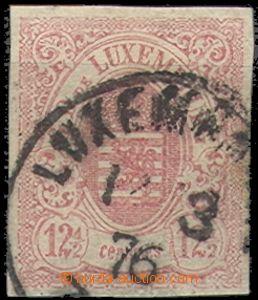 56662 - 1859 Mi.7  Znak, dobrý střih, částečně kryjící razítko, dobř