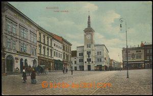 56673 - 1911 Kroměříž - Velké náměstí, kostel, hotel a obcho