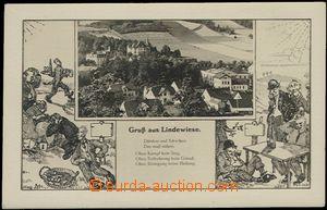 56674 - 1936 DOLNÍ LIPOVÁ (Nieder Lindewiese) -  B/W collage, gene
