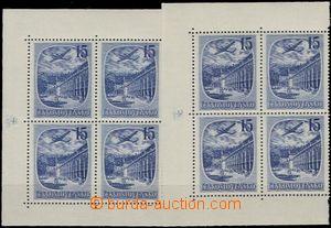 56710 - 1951 Pof.L35, Čsl. lázně, 2x levý 4-blok s okrajem, RZ, ORZ,