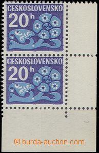 56712 - 1971 Pof.D93xb, Flowers, right the bottom corner vertical pa