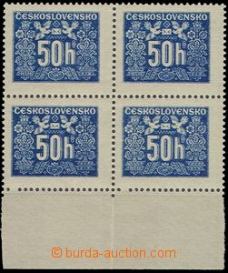 56717 - 1946 Pof.D69, gravure, block of four with lower margin, 2x o