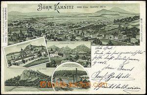56757 - 1899 Česká Kamenice (Böhm. Kamnitz) - litografická kolá