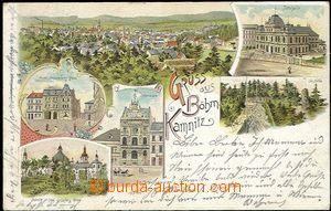 56758 - 1898 Česká Kamenice (Böhm. Kamnitz) - litografická kolá