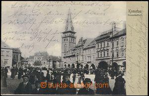 56761 - 1904 Chomutov (Komotau) - davy people in the square; long ad