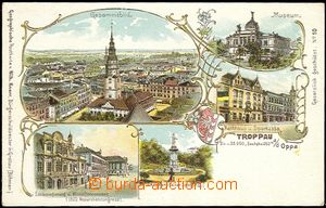 56769 - 1900 OPAVA (Troppau) - lithography, museum, town-hall, Emper