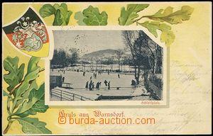 56771 - 1900 Varnsdorf (Warnsdorf) - obrázková koláž, kluziště