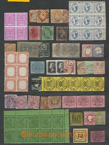 56805 - 1865-90 EUROPE  selection of 135 pcs of various stamp., repr