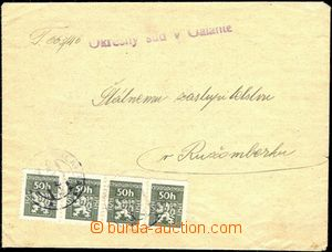 56826 - 1947 service letter franked with. official. stamps str-of-4