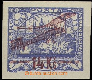 56836 - 1920 Pof.L1, 14Kč/200h blue, wide margins, exp. by Karasek