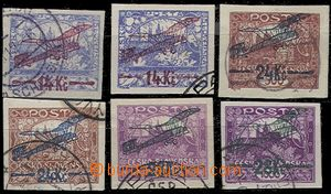 56837 - 1920 Pof.L1-L3, comp. 6 pcs of, according to cat. Merkur-Rev