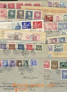 56839 - 1945-49 sestava 14ks dopisů (3x jako R) vyfrankovaných vě
