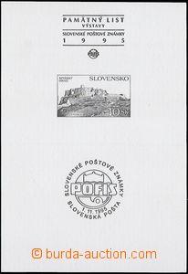 56849 - 1995 příležitostný tisk Zsf.72b PT, s přítiskem Pofis,