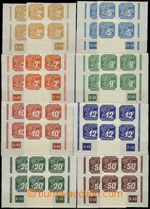 56862 - 1943 Pof.NV10-18, selection of plate numbers on/for L also r
