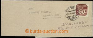 56872 - 1940 whole newspaper wrapper with Pof.NV8, CDS Prag 1/ 17.VI