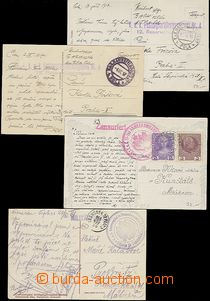 56880 - 1914-17 comp. 4 pcs of Ppc sent by FP, from that 1x hospital