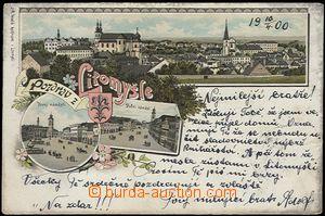 56904 - 1900 Litomyšl - litografická koláž; DA, prošlá, omačk