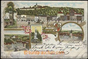 56906 - 1901 Fulnek - litografická koláž; DA, prošlá, zlomený