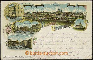 56907 - 1906 Brušperk - litografická koláž; prošlá, zlomený p