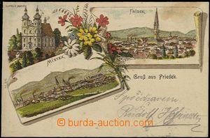 56908 - 1903 Frýdek-Místek - litografická koláž; DA, prošlá,