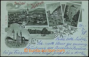 56910 - 1898 Klatovy - lithography, green shade; long address, Us, v