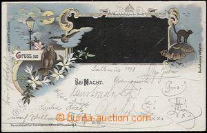 56911 - 1899 Noční pozdrav z . . . (Gruss aus . . . Bei Nacht), li