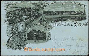 56917 - 1898 Plzeň - lithography, Burgess and Společenský brewery