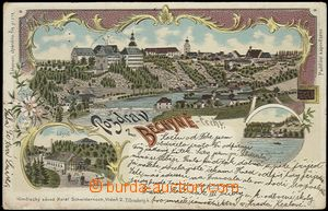56918 - 1899 Bechyně - lithography; long address, Us, pulled-down s