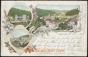 56919 - 1899 Janské Lázně (Johannisbad) - lithography; long addre