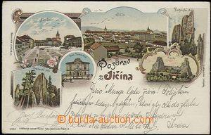 56926 - 1898 Jičín - lithography; long address, Us, bumped corners