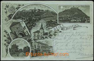 56929 - 1900 Bělá pod Bezdězem - litografická koláž, zelený o