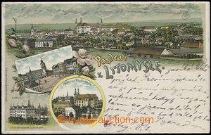 56931 - 1899 Litomyšl - litografická koláž, DA, prošlá, dobrý