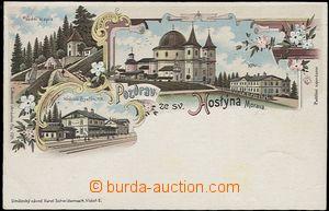 56932 - 1900 Bystřice pod Hostýnem - litografická koláž, nádra