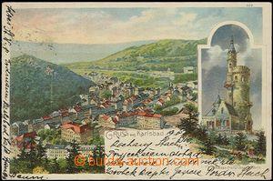 56934 - 1900 rozhledna císaře Františka Josefa, Karlovy Vary (Kar