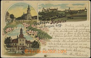 56942 - 1901 Kostelec nad Černými lesy - litografická koláž; DA