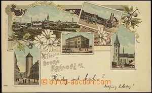 56944 - 1899 Dvůr Králové n./L. - lithography; long address, Us,