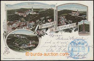 56954 - 1901 Křivoklát - litografická koláž; DA, prošlá, dobr